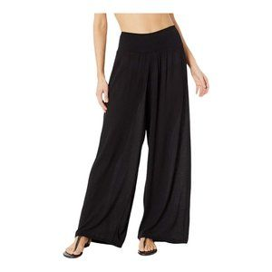 Gottex Black Sheer Drawstring Cover-Up Pants S